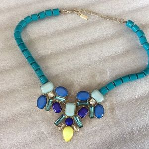 Large MIKA Shades of Turquoise Statement Necklace